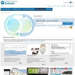 Ideas y ejemplos de reutilizaciones creadas a partir de datos de Open Data Euskadi