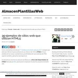 35 ejemplos de sitios web que utilizan HTML5