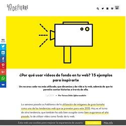 Ejemplos de utilización de vídeos de fondo para tu web