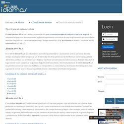 Ejercicios alemán nivel A1 - Casa Idiomas, cursos y clases de alemán