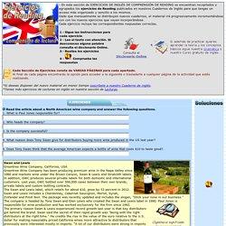 Ejercicios comprensión lecturas en inglés