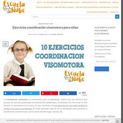 10 Ejercicios coordinación visomotora para niños y niñas