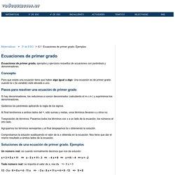 Ejercicios resueltos de ecuaciones de primer grado