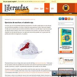 Ejercicios de escritura: el calcetín rojo