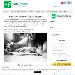 Ejercicios de excel con soluciones - Excel y VBA