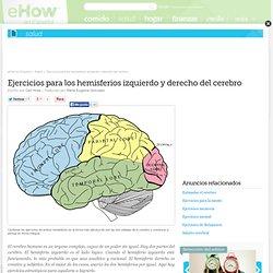 Ejercicios para los hemisferios izquierdo y derecho del cerebro