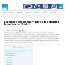 Examenes, problemas y ejercicios resueltos Mecánica de Fluidos. - InfoBombas