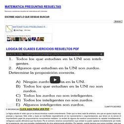 LOGICA DE CLASES EJERCICIOS RESUELTOS PDF ~ MATEMATICA PREGUNTAS RESUELTAS