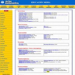 GUIAS DE EJERCICIOS MATEMATICA EDUCACION MEDIA