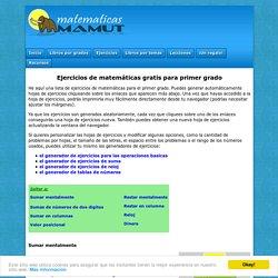 Ejercicios de matemáticas gratis para primer grado (grado 1). Imprime de su navegador.