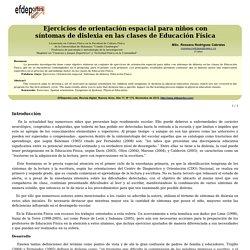 Ejercicios de orientación espacial para niños con síntomas de dislexia en las clases de Educación Física