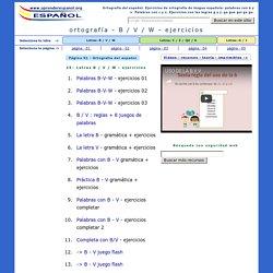 Ejercicios de ortografía del español: Letras B-V, C-Q, G-J