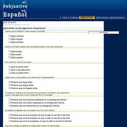 Ejercicios del Subjuntivo en Español