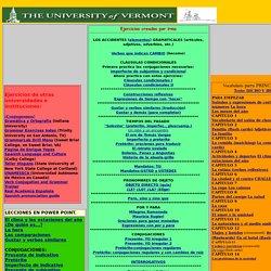 Ejercicios de vocabulario y gramática