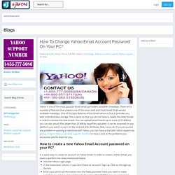 eJibon - Blog View - How To Change Yahoo Email Account Password On Your PC?