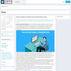 eJibon - Blog View - Quick Steps to Recover Gmail Password
