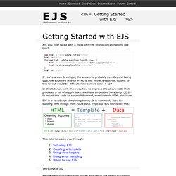 EJS - JavaScript Templates