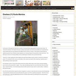 Ekadasa (11) Rudra Mantras
