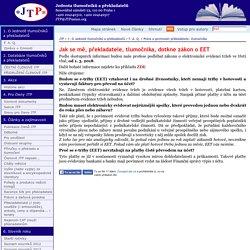 Jak se mě, překladatele, tlumočníka, dotkne zákon o EET
