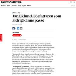 Jan Eklund: Författaren som aldrig känns passé