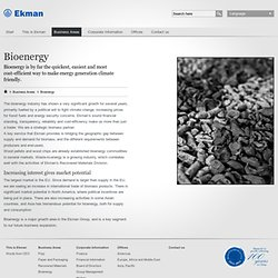 Ekman - Bioenergy