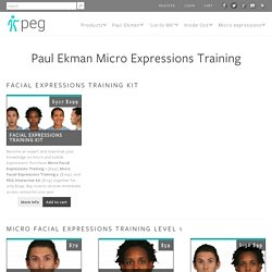 Paul Ekman Micro Expressions Training - Paul Ekman Group, LLC