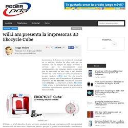 Ekocycle Cube, impresora 3D que recicla botellas de refrescos