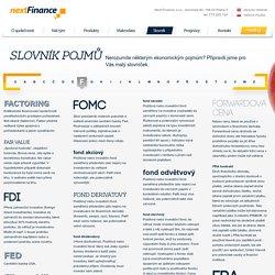 Finanční a ekonomický slovník