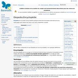 EKOPEDIA : Vie et Techniques alternatives...