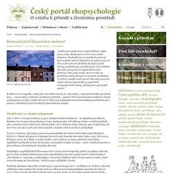 Český portál ekopsychologie - Všechny články » Bezmocní před klimatickou změnou?