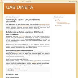 UAB DINETA: Verslo valdymo sistemos DINETA.ekosistema paprastumas