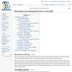 Eksempler på pedagogisk bruk av dataspill – Wikibøker