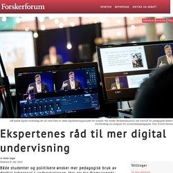 Ekspertenes råd til mer digital undervisning