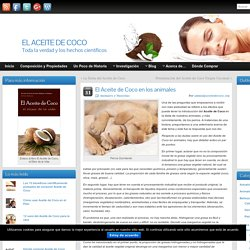 El Aceite de Coco en los Animales