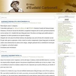 El bloc d'Eudald Carbonell