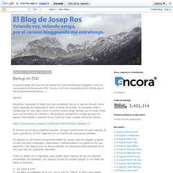 El Blog de Josep Ros: Backup en ESXi