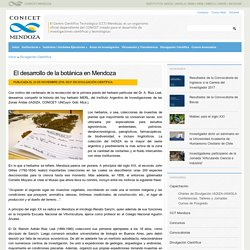 Argentina: la botánica en Mendoza -