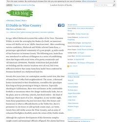 El Diablo in Wine Country