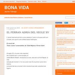 EL FERRAN ADRIÀ DEL SEGLE XV