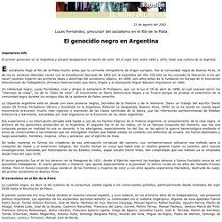 El genocidio negro en Argentina