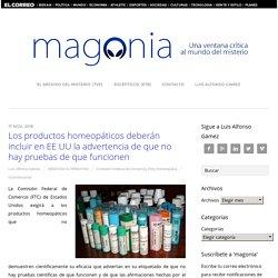 El Gobierno de EE UU cerca a la homeopatía