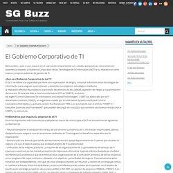 El Gobierno Corporativo de TI