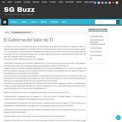 El Gobierno del Valor de TI