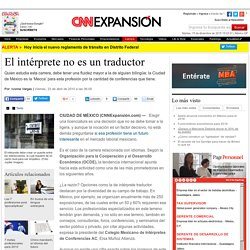 El intérprete no es un traductor