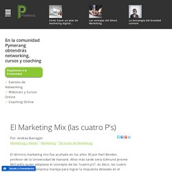 El Marketing Mix (las cuatro P's)