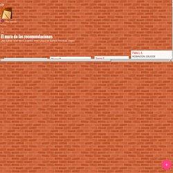 Padlet. El muro de las recomendaciones. Muro donde publicar actividades o informaciones.