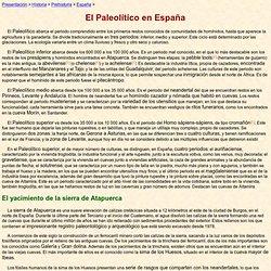 El Paleolítico en España