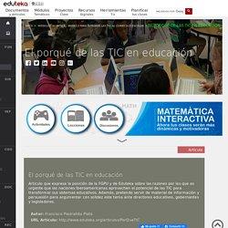 El porqué de las TIC en educación