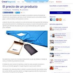 El precio de un producto
