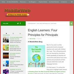 EL Principles for Principals